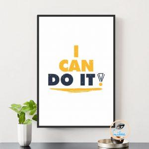 Tranh Động Lực - I Can Do It