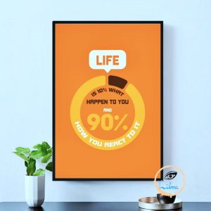 Tranh Động Lực - Life Is 10% What Happen You And 90% How You React To It